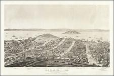 San Francisco & Bay Area Map By Charles   Braddock Gifford