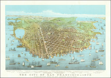 San Francisco & Bay Area Map By Nathaniel Currier / Joseph C. Ives