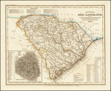 South Carolina Map By Joseph Meyer  &  Carl Radefeld