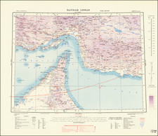 Middle East, Arabian Peninsula, Persia and World War II Map By War Office