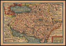 Central Asia & Caucasus, Middle East and Persia Map By John Speed / Pieter van den Keere