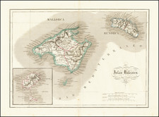 Balearic Islands Map By Pablo Alabern y Molas