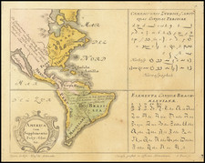 California as an Island and America Map By Homann Heirs / Gottfried Hensel
