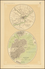 Philadelphia and Boston Map By Henry Darwin Rogers  &  Alexander Keith Johnston