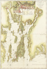 Rhode Island and American Revolution Map By George Louis Le Rouge