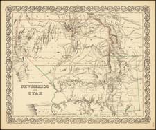 Arizona, Colorado, Utah, Nevada, New Mexico, Colorado and Utah Map By Joseph Hutchins Colton