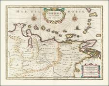 Venezuela Map By Henricus Hondius