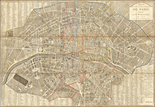 Paris Map By Pierre Jean