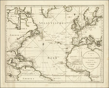 Atlantic Ocean and United States Map By Franz Anton Schraembl