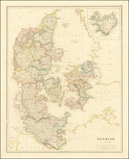 Iceland and Denmark Map By John Arrowsmith