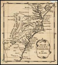 Mid-Atlantic, Maryland, Southeast, Virginia, North Carolina and South Carolina Map By Robert Morden / Abraham Wolfgang