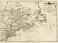New England, Canada and Eastern Canada Map By Robert Sayer  &  John Bennett