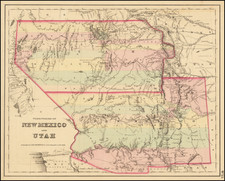 Territories of New Mexico and Utah By Joseph Hutchins Colton