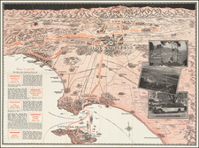 Pictorial Maps and Los Angeles Map By W. Calkins