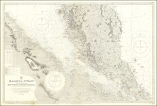 Singapore, Indonesia and Malaysia Map By British Admiralty