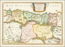 North Africa Map By Nicolas Sanson