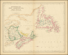 Canada and Eastern Canada Map By Henry Darwin Rogers  &  Alexander Keith Johnston