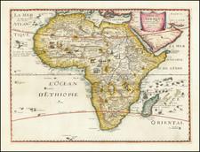Africa Map By Melchior Tavernier / Petrus Bertius
