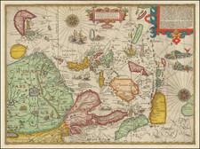 China, Japan, Korea, Southeast Asia, Philippines, Indonesia and Malaysia Map By Jan Huygen Van Linschoten