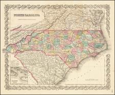North Carolina By Joseph Hutchins Colton