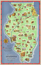 Illinois and Pictorial Maps Map By Rand McNally & Company / E. H. Brown / R. A. Burleigh