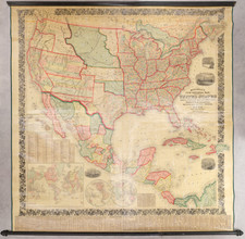 United States, Southwest and Rocky Mountains Map By Samuel Augustus Mitchell
