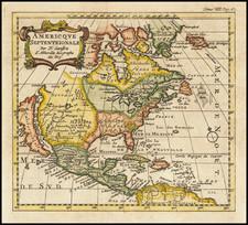 North America and California as an Island Map By Nicolas Sanson