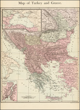 Turkey and Greece Map By E. Steiger