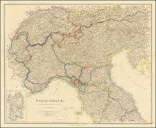 Austria and Northern Italy Map By John Arrowsmith