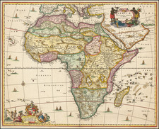Africa Map By Nicolaes Visscher I