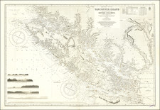 Pacific Northwest, Washington and Canada Map By British Admiralty