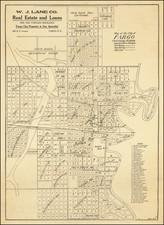 North Dakota Map By E.J. Henriques