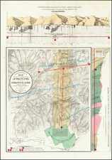 Topographical Map Showing the Location of the Sutro Tunnel and the Comstock Lode By Charles F. Hoffmann / Ferd. Mayer & Co.