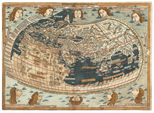 World and World Map By Claudius Ptolemy / Lienhart Holle
