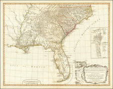 Florida, South and Southeast Map By Richard Holmes Laurie  &  James Whittle