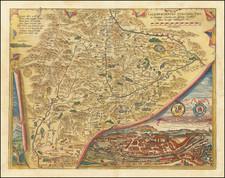 Austria Map By Abraham Ortelius