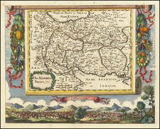 Middle East, Arabian Peninsula and Persia & Iraq Map By Johann Christoph  Wagner
