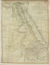 Egypt and North Africa Map By Franz Ludwig Gussefeld