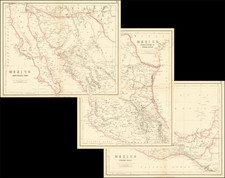Mexico and Baja California Map By Henry Darwin Rogers  &  Alexander Keith Johnston
