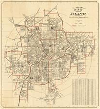 Georgia Map By W. Tom Wilson