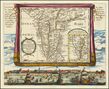 India Map By Johann Christoph  Wagner