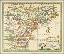 North America Map By John Entick