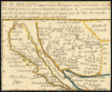 Southwest, Baja California, California and California as an Island Map By Pierre Du Val