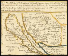 Southwest, Baja California, California and California as an Island Map By Pierre Du Val