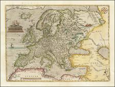 Europae By Abraham Ortelius