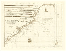 Southeast, North Carolina and South Carolina Map By George Louis Le Rouge