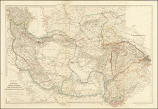 India, Central Asia & Caucasus, Middle East and Persia Map By John Arrowsmith