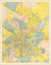 New Jersey, Pennsylvania and Philadelphia Map By Elvino K. Smith