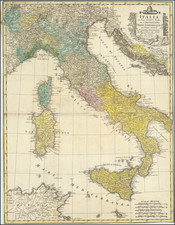 Italy Map By Homann Heirs