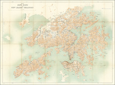 Hong Kong Map By Geographical Section, War Office (UK) / Royal School of Military Engineering